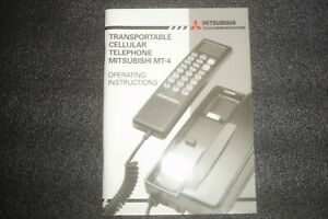 COLLECTABLE CLASSIC MITSUBISHI MT4 OPERATING INSTRUCTIONS HANDBOOK