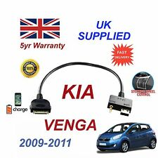 For KIA Venga iPhone 3 3gs 4 4S iPod USB & 3.5mm Aux Audio Cable MY 2009-11