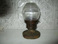 VINTAGE COPPER/BRASS LANTERN WALL SCONCE OUTDOOR PORCH LIGHT