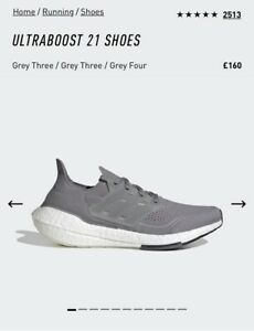 Adidas Ultraboost 21 Running Shoes. UK9. Brand New In Box. 100% Authentic.