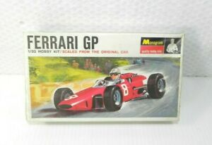 Monogram 1966 Ferrari GP Sealed Plastic Race Car Model NOS