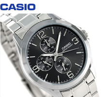 Casio Men's Standard MTP-V301D-1A Fashion Stainless Steel Dress Analog Watch New