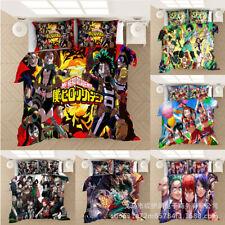 HOT My Hero Academia Design Bedding Set 3PC Duvet Cover Pillowcase Double King
