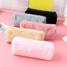 Women Cute Soft Plush Fluffy Pencil Case Makeup Pouch Coin Purse Storage Pen Bag