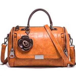 Women's Faux Leather Large Capacity Cross Body Shoulder Bag Satchel Tote Handbag