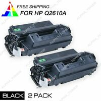 2PK For HP Laserjet 2300d 2300dn 2300dtn Q2610A 10A Black Laser Toner Cartridge