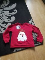 girls father christmas jumper with snowglobe age 8-9 years from george