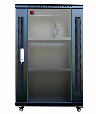 """18U Wall Mount IT Network FULLY EQUIPPED Server Rack Cabinet Enclosure 24"""" Depth"""