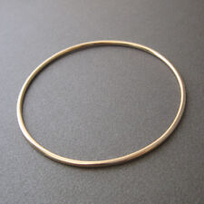 Bracelet jonc fin plaqué or 750/000 18 carats neuf BR144J-62