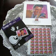 Vintage ELVIS First Day Of Issue January 8 1992 40-Stamp Sheet PLUS ELVIS Print