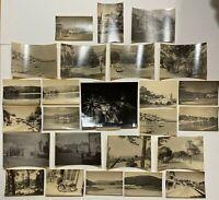LOT DE 25 PHOTOS ANCIENNES 1930 FEU D ARTIFICE PAYSAGE H2105