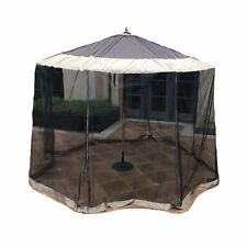 Outdoor Patio Umbrella Mosquito Screen Netting  9ft to 11ft Market Cantilever