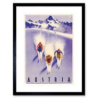 ART PRINT POSTER TRAVEL TOURISM WINTER SPORT SKI ELK FINLAND SNOW NOFL1275