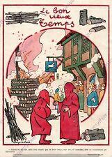 BUCHER BOURREAU CAGOULE ANTHRACITE GEORGES DELAW HUMOUR 1919 PRINT