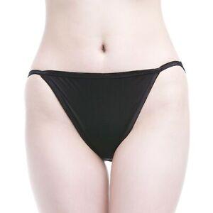 Womens Silk Knit String Bikinis Knickers Tanga DONNE STRING BIKINI TANGA S-XXL