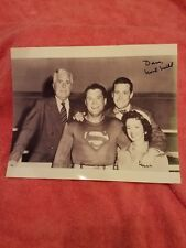 AUTOGRAPH Hand-Signed Noel Neill with George Reeves Superman 8x10 B&W w/coa
