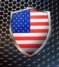 "America Flag USA Shield Proud Domed Decal Emblem Car Sticker 3D 2.3""x 3"""