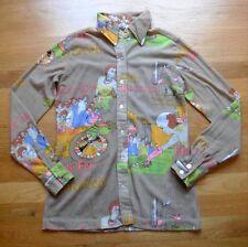Vintage 70's CASINO Theme Shirt Gambling Black Jack Roulette