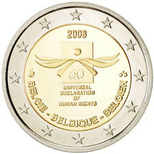 EUR, Belgium, 2 Euro Declaration of Human Rights 2008, Brussels, KM:248 #93493