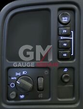 Left Dash Switches 4WD bulb to Blue LED Upgrade Kit for GM Trucks SUV's 2003-06