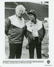 MAC DAVIS GEORGE KENNEDY SMILING WHAT PRICE VICTORY ORIGINAL 1988 ABC TV PHOTO