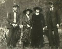 West Virgina Coal Miner Family Dressed Up Fashion Appalachia 1915 Antique Photo