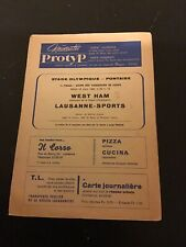 Lausanne Sports v West Ham ECWC 16/05/1965 Football Programme