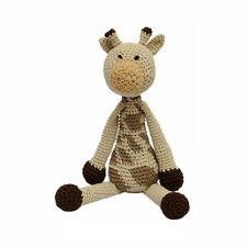 Cream-Brown Giraffe Handmade Amigurumi Stuffed Toy Knit Crochet Doll VAC
