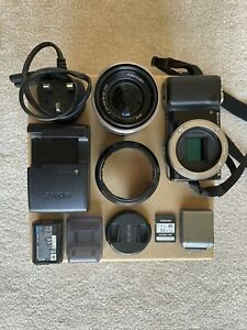 Sony Alpha NEX-5N 16.1MP Digital Camera Kit SEL 18-55mm Lens Black Touchedscreen