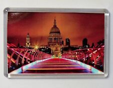 LONDON MILLENNIUM BRIDGE FRIDGE MAGNET ST PAULS SOUVENIR