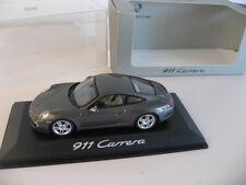 Minichamps 911 Carrera Porsche 991 Coupe Dealer Item Model gray
