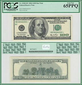 2006 Star $100 New York Federal Reserve Note PCGS 65 PPQ Gem New Unc FRN