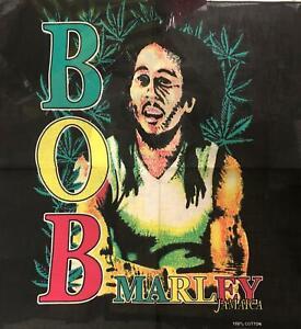 Bob Marley Bandanna Green Leaf Portrait Rasta Music Head Wear Bands Scarf Neck