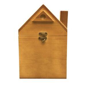 Boleshu Handmade Decorative Wooden Keepsake Memory Box House Shaped With Clasp