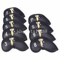 9pcs golf iron cover for TaylorMade Callaway Ping MIZUNO Cobra Iron Club Cover