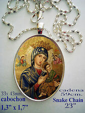 Medalla porcelana cerámica NTRA SRA PERPETUO SOCORRO Our Lady of Perpetual Hel