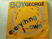 BOY GEORGE -(45 W/PIC. SLEEVE)-EVERYTHING I OWN / USE ME - VIRGIN RECORDS - 1987
