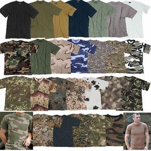 US T-SHIRT Army Tarn Shirt S-7XL viele Farben uni camo BW Bundeswehr Tarnshirt