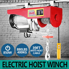 400KG Electric Hoist Winch Lifting Engine Crane Heavy Duty High Carbon Garage