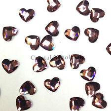 Swarovski 2808 Heart Crystal Flatbacks nail art Rhinestones (pick color & size)