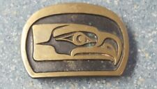 Belt Buckle Nfl Football Seatle Sea Hawks Bronze