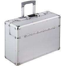 Alu XL Pilotenkoffer Businesskoffer Aktenkoffer Koffer Trolley silber B-Ware