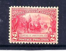 US Stamps - #329 - MLH - 2 cent Jamestown Expo Issue - CV $30