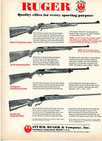 1972 Print Ad of Sturm Ruger Model 77 10/22 44 Magnum & Number One Rifle