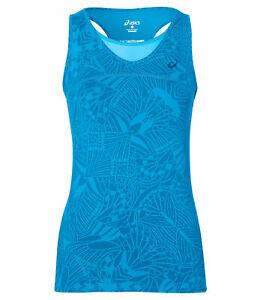 ASICS Women's Tank Top Sports GPX Athlete Tennis Tank Top Vest - Diva Blue - New