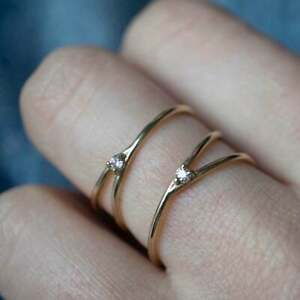 Spiral Swirl Style Natural Diamond Engagement Ring GGL Certified Gold Jewelry