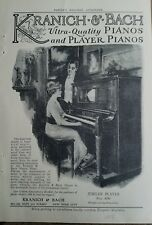 1915 KRANICH & BACH Ultra quality Jubilee player piano vintage ad