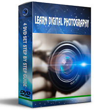 Learn Digital Photography Photo Camera 4 Audio/Video DVD Course Training Guide