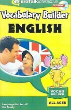 Vocabulary Builder - English. CD-ROM: Learn English, EuroTalk, Excellent, CD-ROM