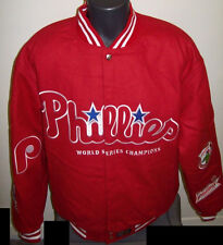 PHILADELPHIA PHILLIES World Series Championship Reversible Wool Jacket RED MED
